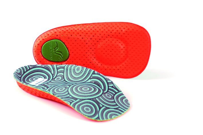 vibro insole 3/4 length orthotics deluxe